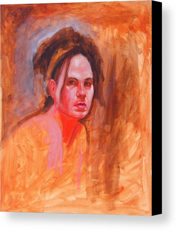 Portrait Canvas Print featuring the painting Maza by John Tartaglione