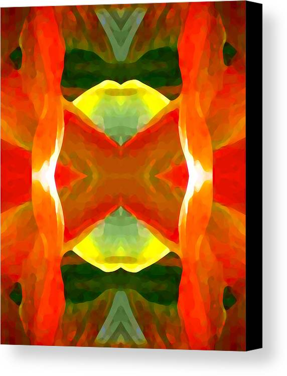 Abstract Canvas Print featuring the painting Meditation by Amy Vangsgard