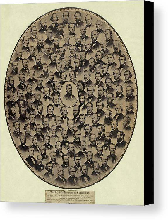 History Canvas Print featuring the photograph Members Of The U.s. House by Everett