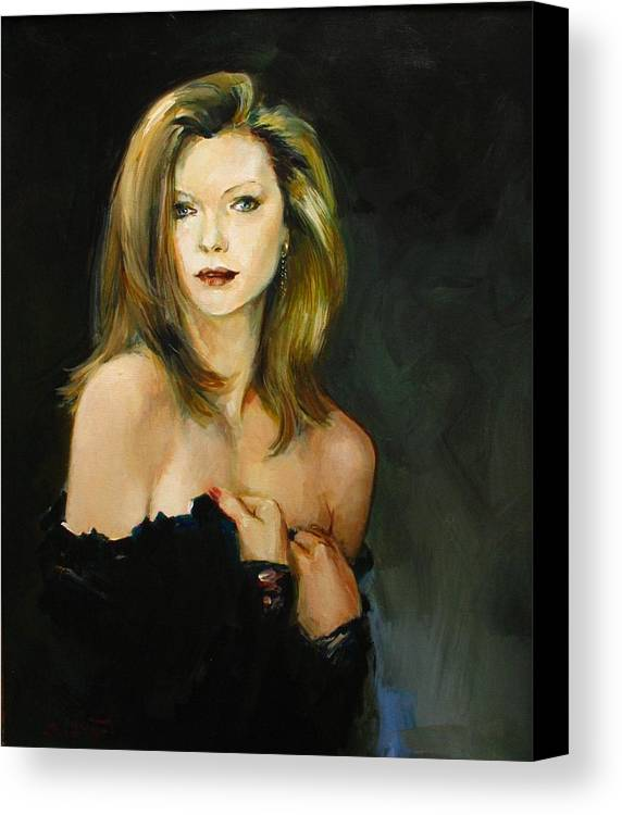 Michelle Canvas Print featuring the painting Michelle Pfeiffer by Tigran Ghulyan
