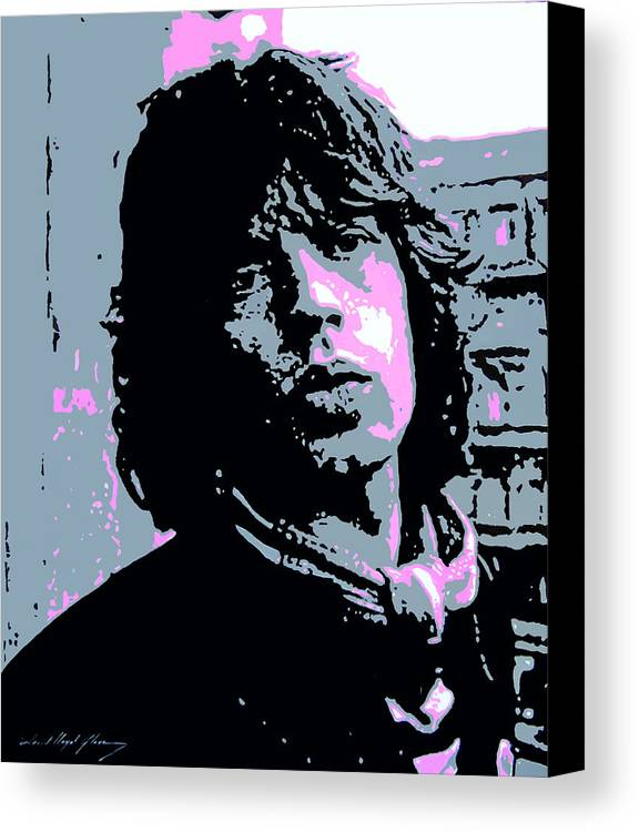 Mick Jagger Canvas Print featuring the painting Mick Jagger In London by David Lloyd Glover