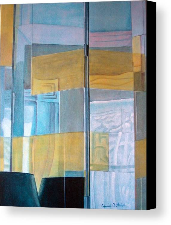 Miroir Canvas Print featuring the painting Miroir by Muriel Dolemieux