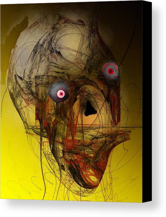 Skull Canvas Print featuring the digital art No Mouth by David Lane