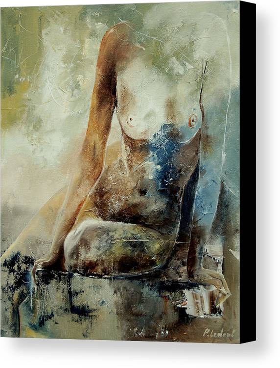 Nude Canvas Print featuring the painting Nude 560408 by Pol Ledent