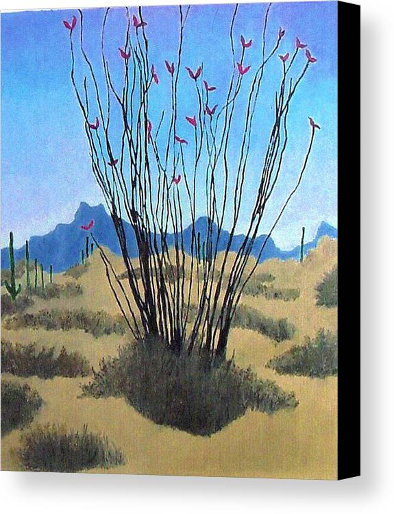 Realism Canvas Print featuring the painting Ocotillo by Bernard Goodman