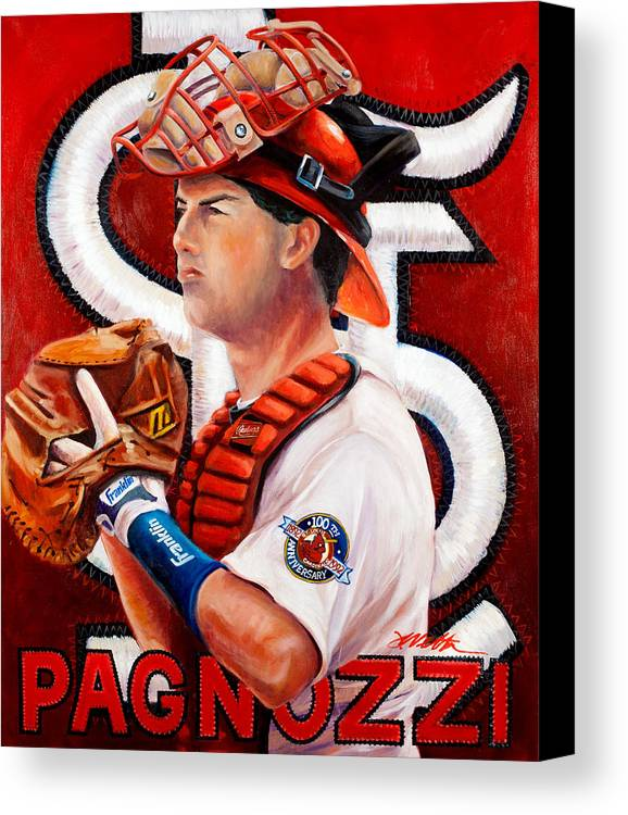 Pagnozzi Canvas Print featuring the painting Pagnozzi by Jim Wetherington