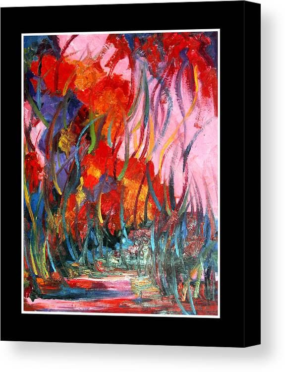 Abstract Canvas Print featuring the painting Reflection Inner Self by Atia Sadiq