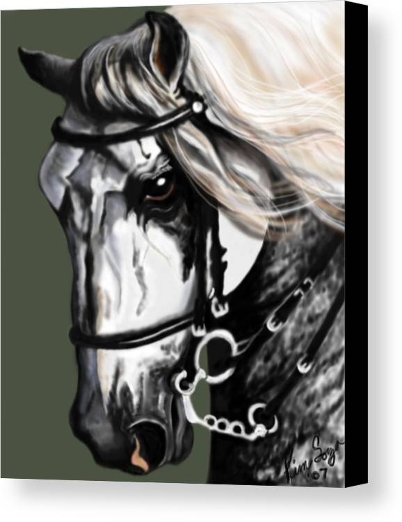 Horses Canvas Print featuring the painting Relampago Lx by Kim Souza