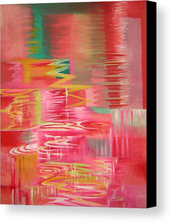 Abstract Canvas Print featuring the painting Ripples No.3 by Lian Zhen