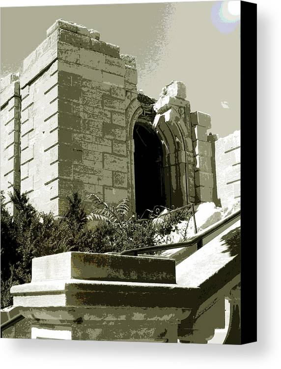 St Raphael Canvas Print featuring the photograph Ruins Of Morlino by Gary Everson