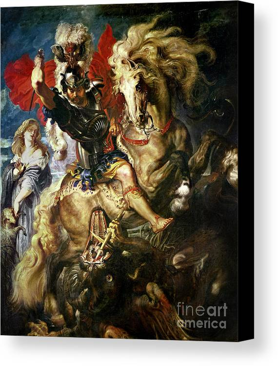 George Canvas Print featuring the painting Saint George And The Dragon by Peter Paul Rubens