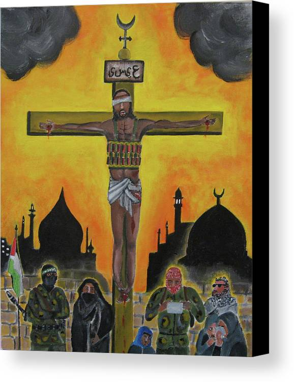 Shahid Canvas Print featuring the painting Shahid Or Martyr by Darren Stein