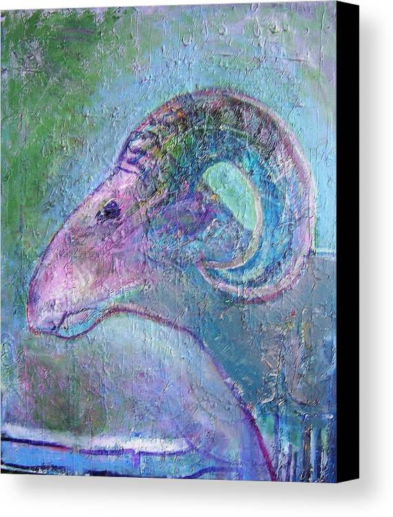 Sheep Animals Canvas Print featuring the painting Sheep by Dave Kwinter