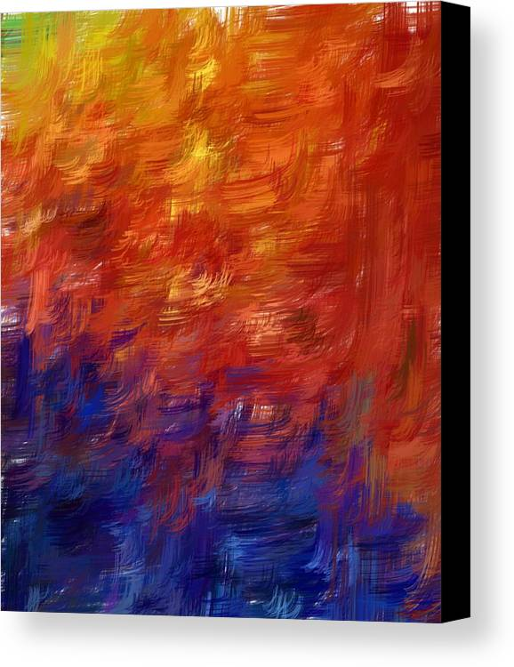 Abstract Canvas Print featuring the digital art Simply Lines by Shari M