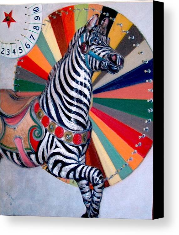 Realism Canvas Print featuring the painting Stripes by Donelli DiMaria