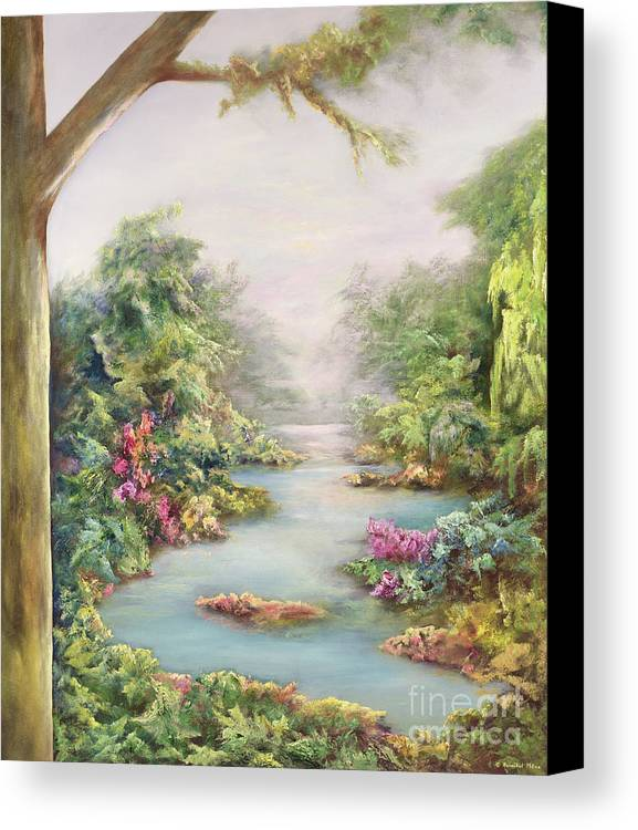 Landscape Canvas Print featuring the painting Summer Vista by Hannibal Mane