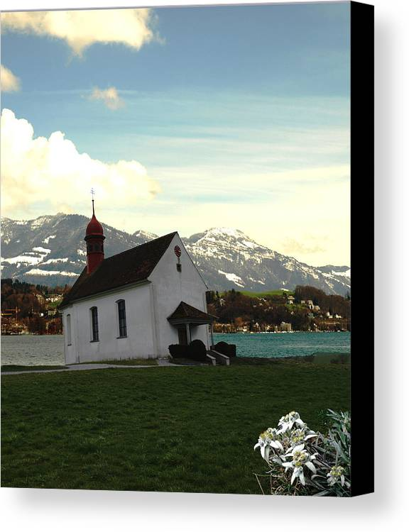 Spring Canvas Print featuring the photograph Swiss Hope by Chuck Shafer