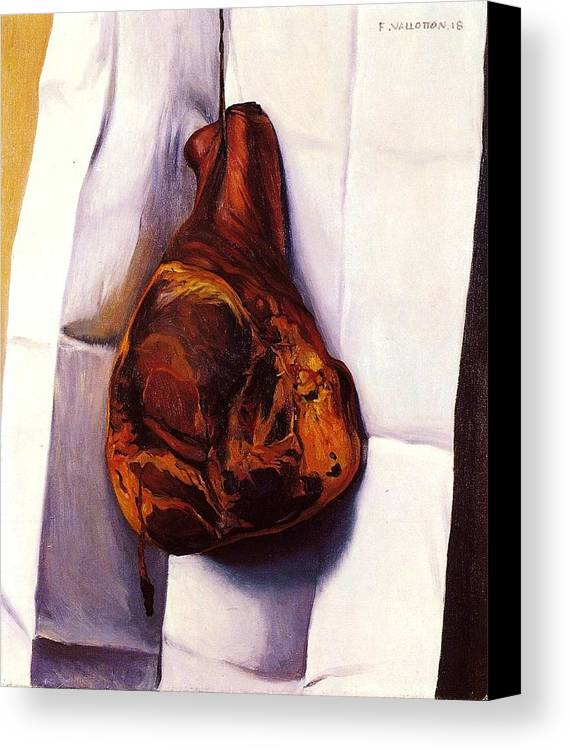 Pd Canvas Print featuring the painting The Ham by Pg Reproductions