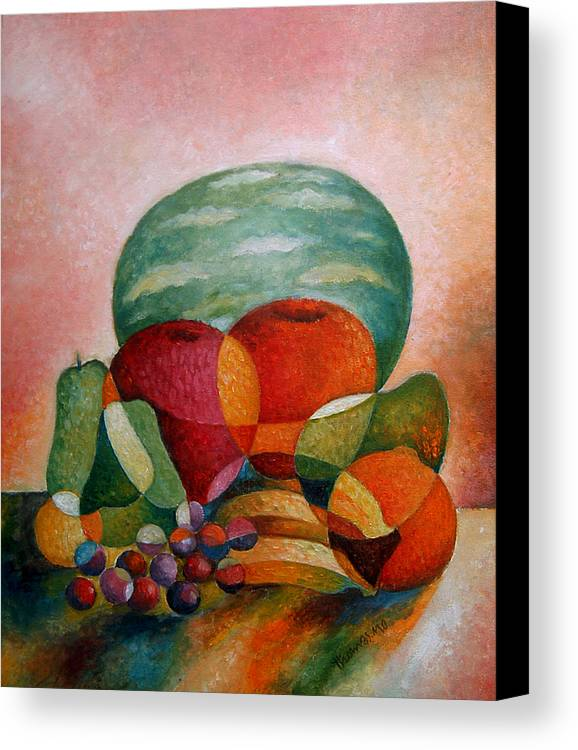 Different Faces Canvas Print featuring the painting The Hidden Face by Thomas Ouseph