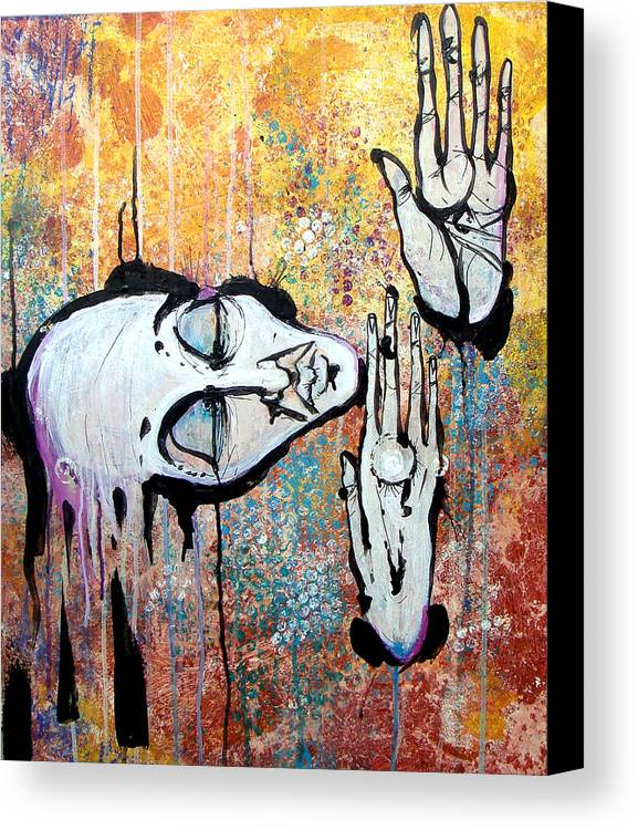 Man Canvas Print featuring the painting The Moment by Mark M Mellon