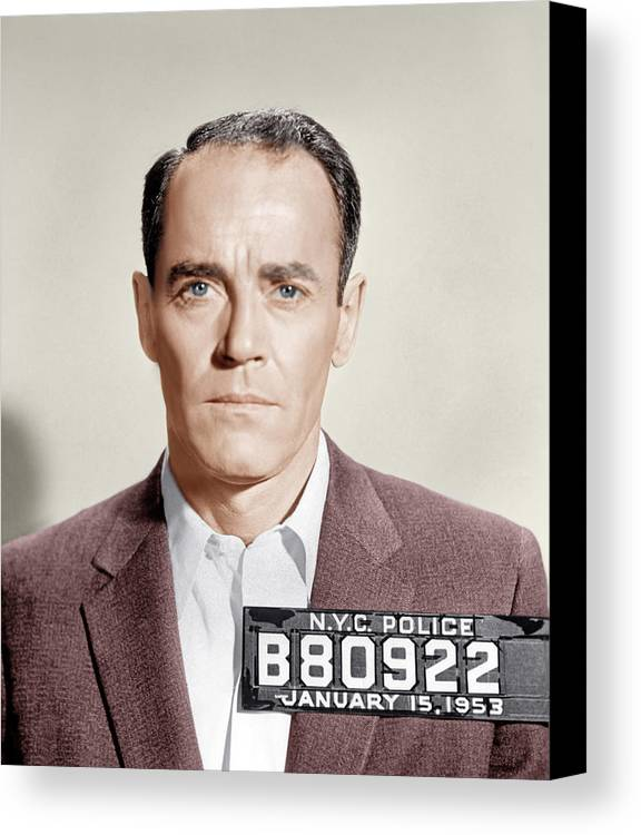 1950s Portraits Canvas Print featuring the photograph The Wrong Man, Henry Fonda, 1956 by Everett