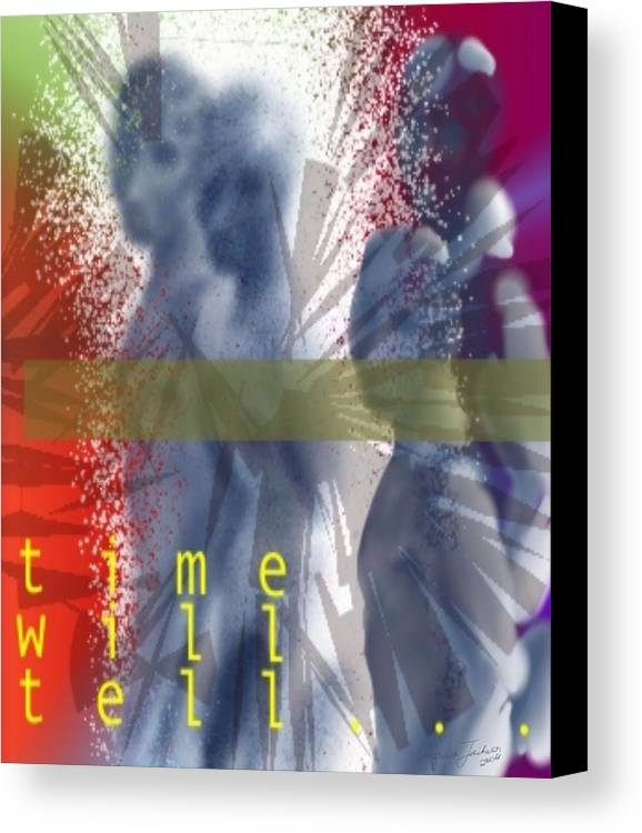 Afterlife Dream Surreal People Canvas Print featuring the digital art Time Will Tell by Veronica Jackson