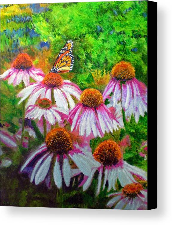 Butterfly Canvas Print featuring the painting Welcomed Visitor by Michael Durst