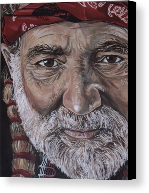 Portrait Canvas Print featuring the painting Willie by Diann Baggett