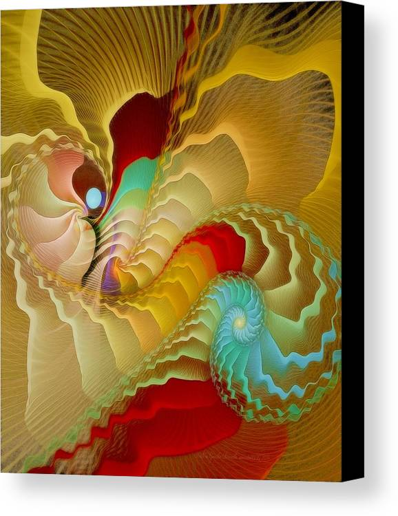Fractal Canvas Print featuring the digital art With A Gentle Breath by Gayle Odsather