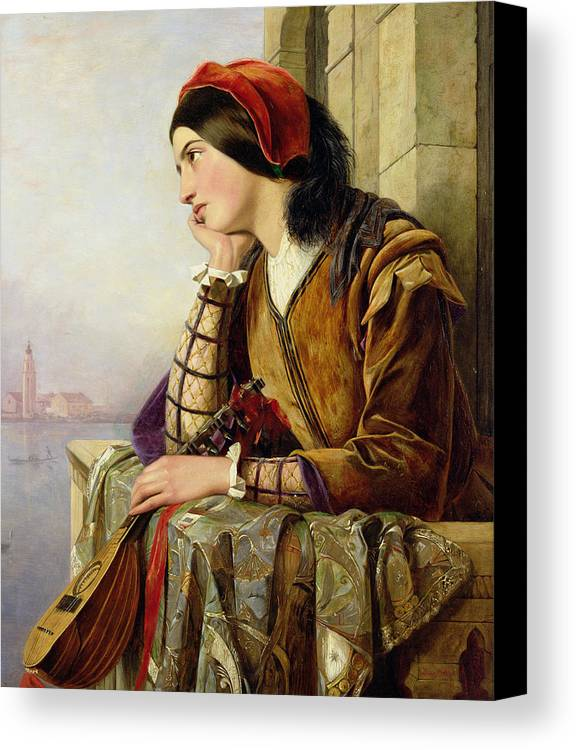 Woman In Love Canvas Print featuring the painting Woman In Love by Henry Nelson O Neil