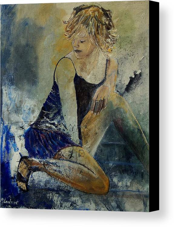 Nude Canvas Print featuring the painting Young Girl 5689474 by Pol Ledent