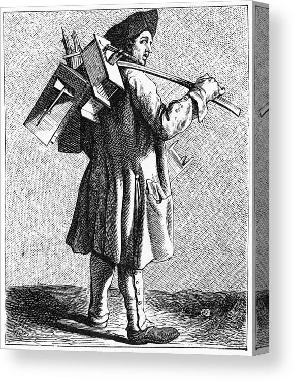 1740 Canvas Print featuring the painting Parisian Exterminator by Granger