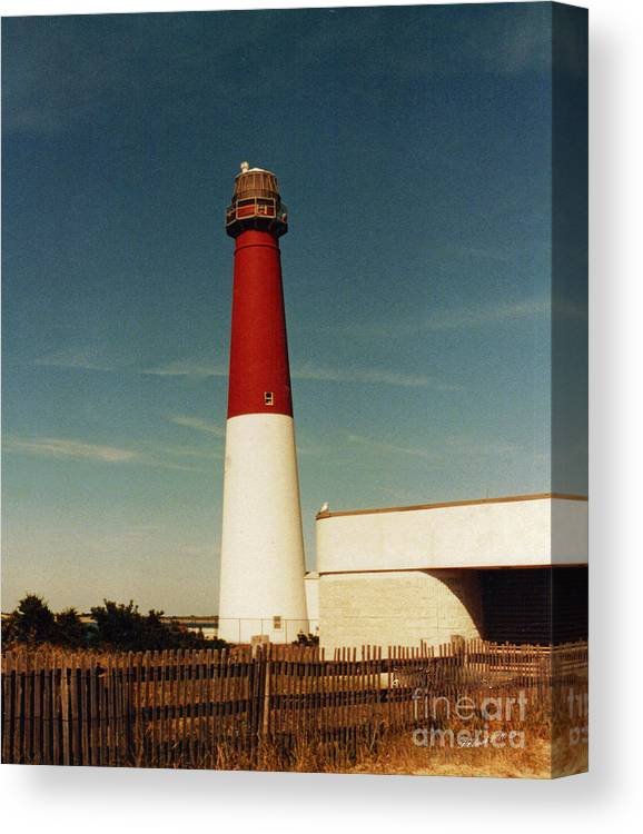 Landscape Canvas Print featuring the photograph Barnegat Light by Timothy Clinch