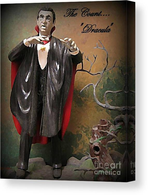 Nightmares Canvas Print featuring the painting Dracula Model Kit by John Malone