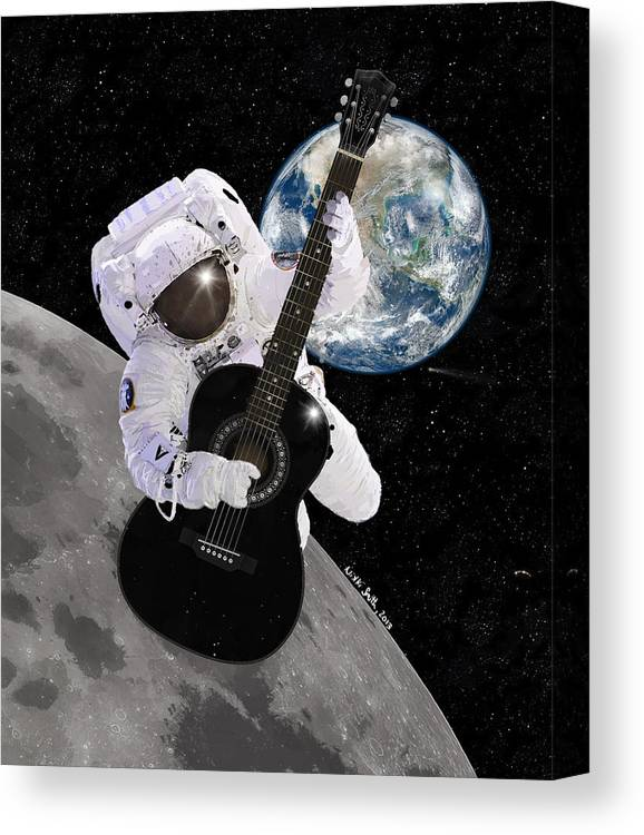 Astronaut Canvas Print featuring the digital art Ground Control To Major Tom by Nikki Marie Smith