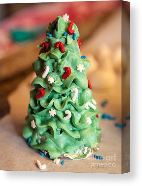 Iris Holzer Richardson Canvas Print featuring the photograph Icing Christmas Tree by Iris Richardson