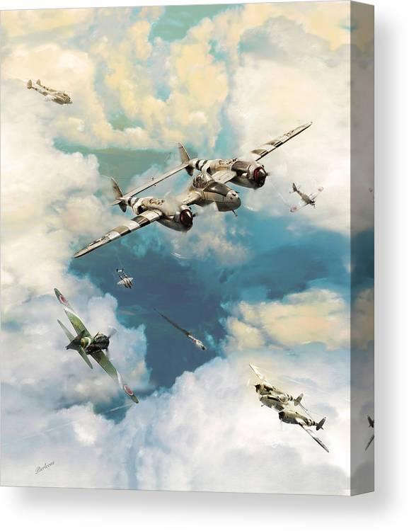 P-38 Lighting Canvas Print featuring the photograph P-38 Lighting by Tony Pierleoni
