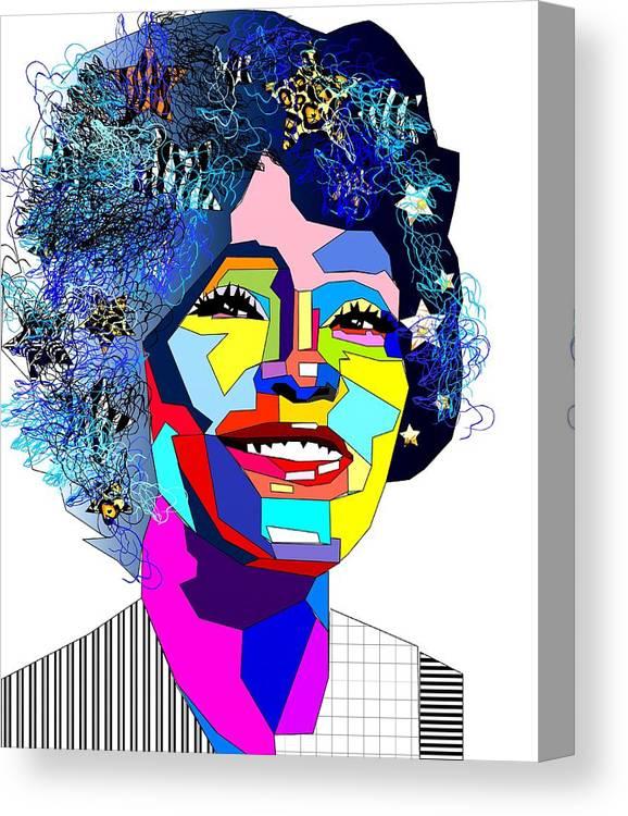Pop Canvas Print featuring the digital art Pop by Bogdan Floridana Oana