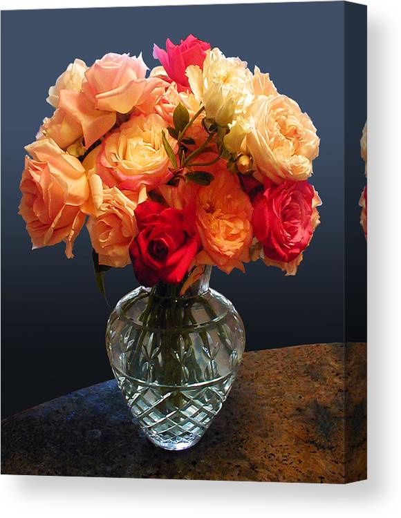 Roses Canvas Print featuring the painting Wayne's Roses by Fred Chuang