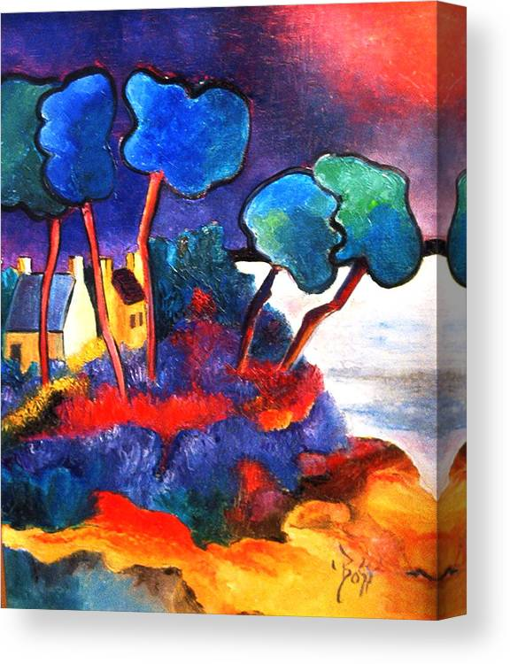 Land Canvas Print featuring the painting Carteret - Normandy by Boss Art