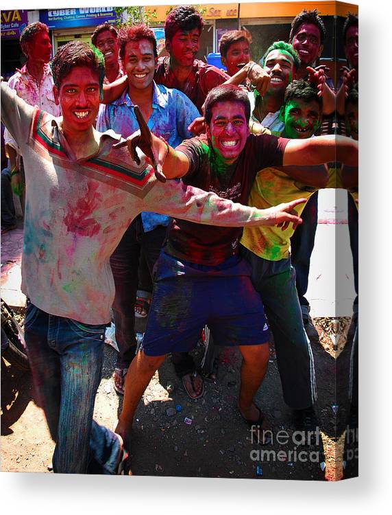 Boys Canvas Print featuring the photograph Colors by Charuhas Images