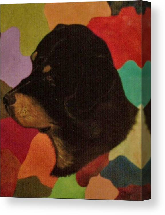Dogs Canvas Print featuring the painting Dog In Art by Guillermo Mason