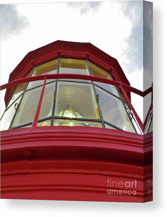 St Augustine Canvas Print featuring the photograph Beauty In The Lighthouse Lens by D Hackett