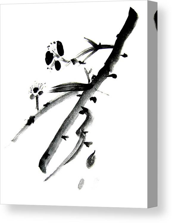 Chinese Brush Canvas Print featuring the painting Chinese Brush L by Danny Pike