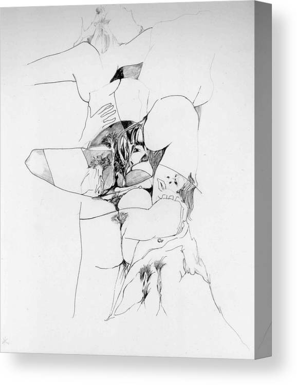 Forms Canvas Print featuring the drawing Kama Sutra by Padamvir Singh