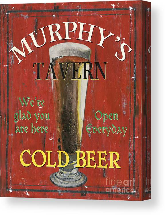Beer Canvas Print featuring the painting Murphy's Tavern by Debbie DeWitt
