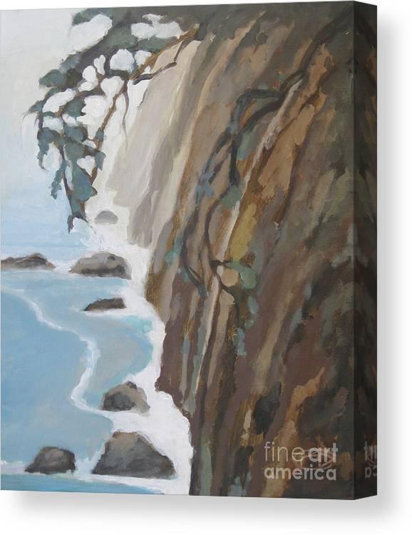 Big Sur Canvas Print featuring the painting Off Big Sur by Kip Decker