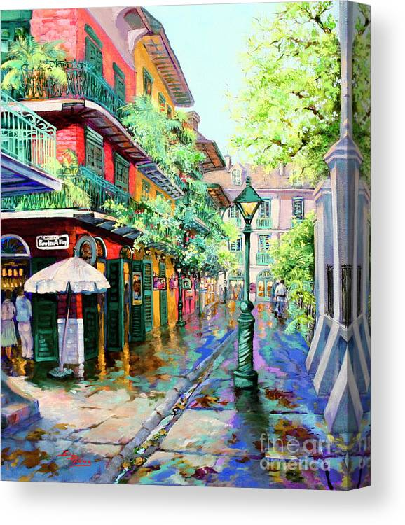 New Orleans Art Canvas Print featuring the painting Pirates Alley - French Quarter Alley by Dianne Parks