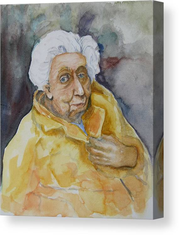 Portrait Canvas Print featuring the painting Portrait Of Eudora Welty  by Dan Earle