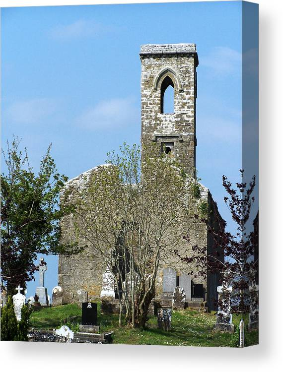 Fuerty Canvas Print featuring the photograph Rear View Fuerty Church And Cemetery Roscommon Ireland by Teresa Mucha
